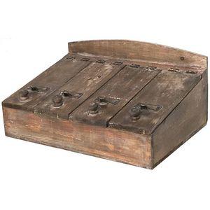 CHEMIN DE CAMPAGNE - grande boîte de rangement coffre coffret casier à  - Portaposate