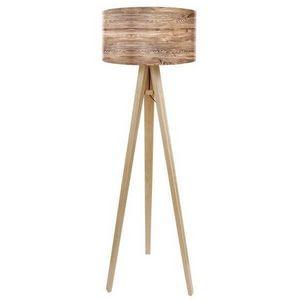 Mathi Design - lampadaire bois nature - Lampada Da Terra Treppiede