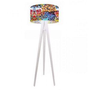 Mathi Design - lampadaire graffiti - Lampada Da Terra Treppiede