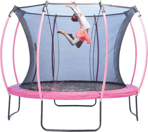 Plum - trampoline junior avec protection réversible turqu - Trampolino Elastico