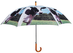 Esschert Design - parapluie vache en nylon et bois vache - Ombrello