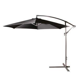 BOIS DESSUS BOIS DESSOUS - parasol deporté 3m noir - Ombrellone Con Braccio Laterale