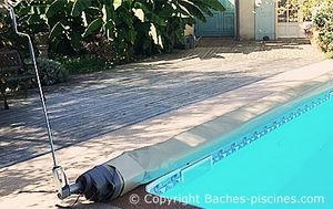 Bâches-piscines.com - à barres cover one - Telo Copertura Piscina Invernale