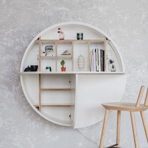 EMKO - pill - bureau mural blanc 30.5 x ø 110 cm - Ufficio Sospeso
