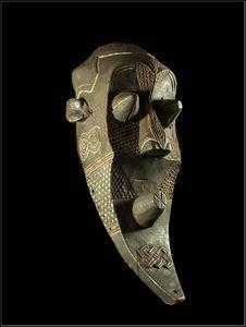 Arts Africains - masque funeraire inhuba kabongo - Maschera Africana