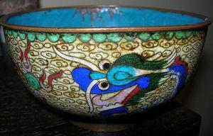 Baikal - bol cloisonné dragon - Scodella