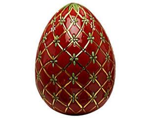 Emaux De Longwy - oeuf taille 3 fabergé (petrouchka) - Uovo Decorativo