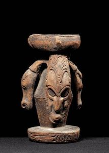 Bruce Frank Primitive Art - mortier, sépik - Mortaio