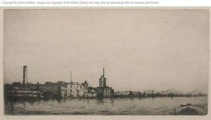 CALTON GALLERY - nine elms, from the thames (london) - Acquaforte