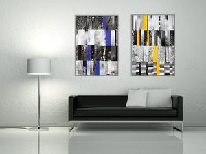 JOHANNA L COLLAGES - city 3 : yellow touch 40x60 cm - Quadro Decorativo