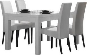 COMFORIUM - ensemble table blanche 190 cm + 4 chaises blanches - Sala Da Pranzo