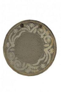 Demeure et Jardin - joli miroir rond à suspendre style vénitien - Specchio
