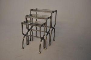 Demeure et Jardin - set de tables gigogne - Tavolini Sovrapponibili