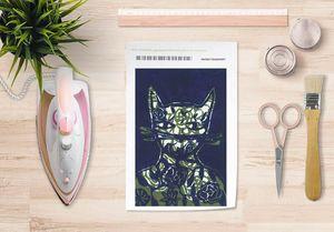 la Magie dans l'Image - papier transfert monsieu chat bleu - Trasferibile