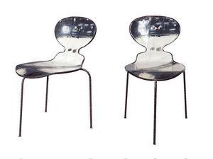 PO! PARIS - chaise en métal de récupération - Sedia