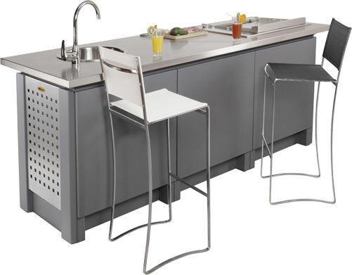 NOBLINOX - Cucina per esterni-NOBLINOX-Linéaire / Personnalisable