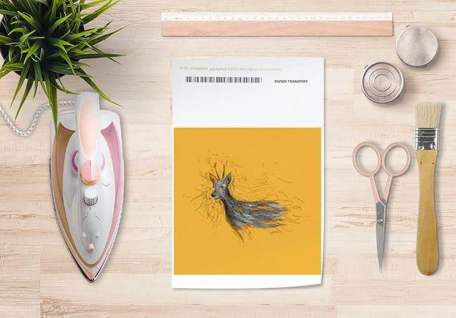 la Magie dans l'Image - Trasferibile-la Magie dans l'Image-Papier transfert Chevreuil Orange
