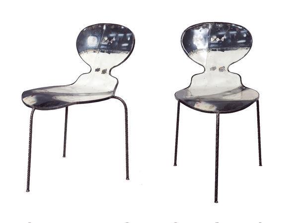 PO! PARIS - Sedia-PO! PARIS-Chaise en métal de récupération