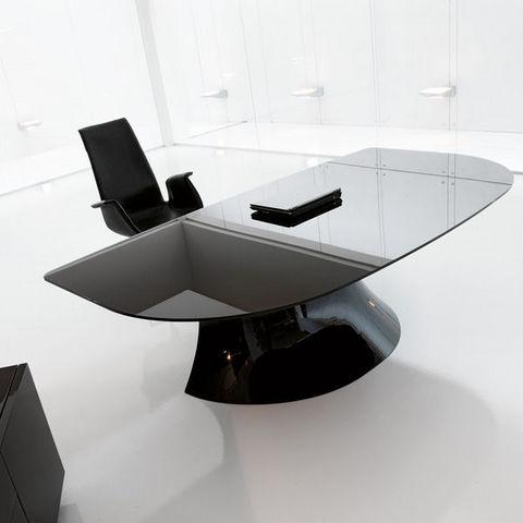 ITALY DREAM DESIGN - Scrivania direzionale-ITALY DREAM DESIGN-Ola-Black. Designer Mario Mazzer